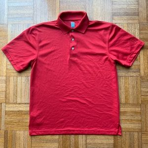 Men's Red PGA Golf Airflux Polo Shirt Small S